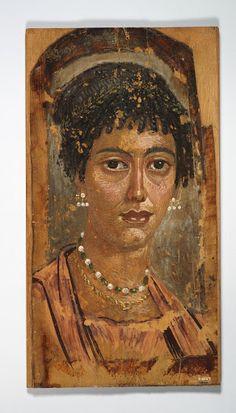 Retrat d'una dona jove. c. 100 dC. Encàustica sobre tela, 22 cm. Toronto: Royal Ontario Museum.