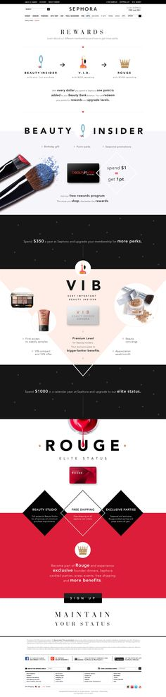 Sephora Rewards page