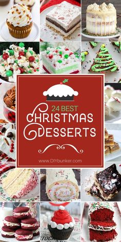 These Christmas dessert ideas are PERFECTION for after your dinner party! They can be served as buffet snacks or specifically after the Christmas entrees. #christmas #dinner #holidays #recipes
