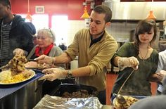 Volunteers, well-wishers bring Christmas spirit to city's soup kitchen. Share hope by providing a supply of Pocket Testament Gospels of John for your local homeless center.