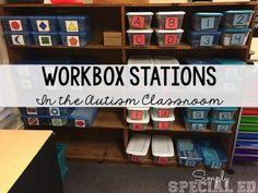 How I run my TEACCH workbox station- Autism Classroom