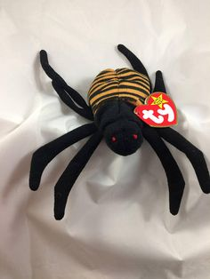 4ac870565fc Ty Beanie Baby Spinner the Spider Original MWT October 28