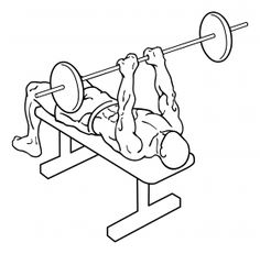 Close Grip Bench Press This chest exercises is also known as : Close Grip Barbell Bench Presses and Narrow Grip Barbell Bench Presses. Chest Workout For Mass, Best Chest Workout, Chest Workouts, Gym Workouts, Swimming Workouts, Swimming Tips, Endurance Training, Weight Training, Weight Lifting