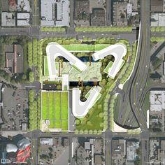Cảnh quan kiến trúc - Giai đoạn 2, kế hoạch minh họa.  Tín dụng hình ảnh: Gustafson Guthrie Nichol