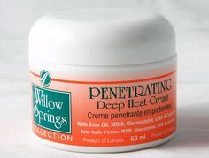 Willow Springs Deep Heat Pain Cream with Emu Oil - made in British Columbia, Canada