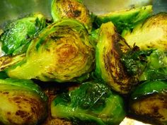 Roasted brussel sprouts with brown butter