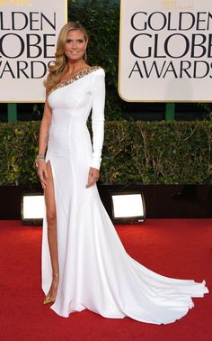 Heidi Klum in Alexander Vauthier at the 2013 Golden Globe Awards
