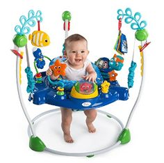 Baby Einstein Neptune Jumper An ocean of activities in a space-saving design that easily adjusts to grow with your baby! Let Baby Neptune introduce your baby to Sea Activities, Infant Activities, Baby Activity Jumper, Baby Toys, Kids Toys, Einstein, Baby Items For Sale, Baby Bouncer, Bouncers