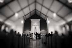 Photography. Black and white.  Church.  Wedding.  On location.