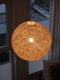 Kordel-Kugel-Lampenschirm (Paketband, Bindfaden oder Wolle!)
