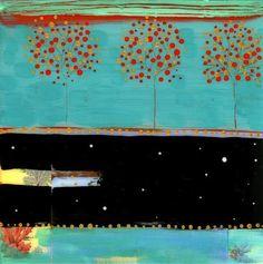 """Trio with Coral"" by Flora Bowley"