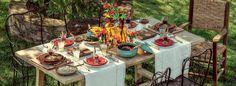 Uma mesa linda ao ar livre