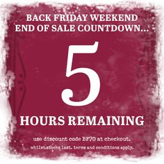 ***5 hours remaining*** Black Friday Weekend Sale. 70% off our full price range. This weekend only!!! Use discount code BF70 at the checkout. #blackfriday #sale #onebutton #jewellery #scarves #accessories