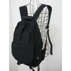 $13.63 New Arrival Large Capacity Black Canvas Backpack