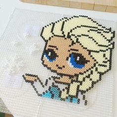 Elsa Frozen perler beads by stinaschulstad