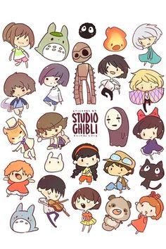 Studio Ghibli chibis