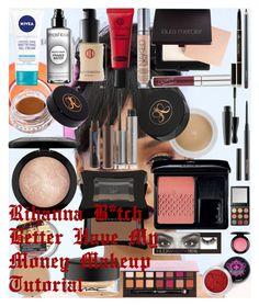"""Rihanna – B*tch Better Have My Money – Makeup Tutorial"" by oroartye-1 on Polyvore featuring beauty, Nivea, Smashbox, Koh Gen Do, Urban Decay, Laura Mercier, Anastasia Beverly Hills, tarte, MAC Cosmetics and Illamasqua"