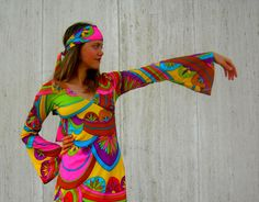 I love this print! Vintage sixties psychedelic shirt by SassySenoritaVintage on Etsy, $42.00