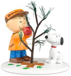 'A Charlie Brown Christmas', figurines, Department 56 Peanuts Village The Perfect Tree Collectible Figurine