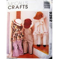 Amazon.com: McCall's 9262 Faye Wine ~ Time Out Dolls ~ Pattern: Everything Else