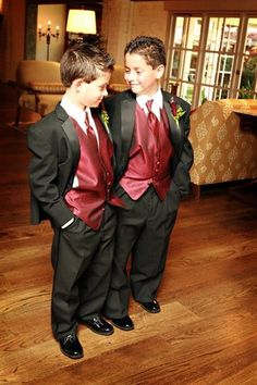 Our Wedding Burgundy vests Wedding Decorations: Making Your Wedding Day Beautiful Usually, the task Wedding Tux, Fall Wedding, Mens Red Suit, Red Tux, Wedding Photos, Wedding Ideas, Wedding Themes, Wedding Planning, Wedding Inspiration