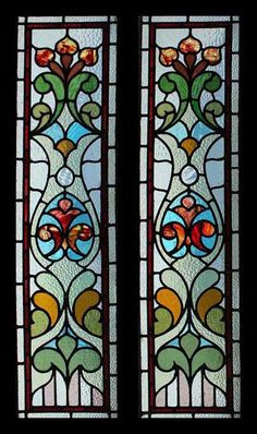 Antique Stained Glass Windows, Stained Glass Door, Tiffany Stained Glass, Stained Glass Designs, Stained Glass Panels, Stained Glass Patterns, Leaded Glass, Mosaic Glass, Pottery Painting Designs