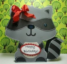 Perfect for a child's birthday. Use the #Cricut Create-a-Critter Cartridge