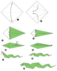 Origami of snake