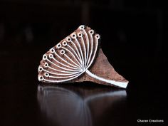 Hand Carved Indian Wood Textile Stamp Block by charancreations, $13.25