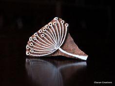 Sculpté à la main indienne bois Textile timbre bloc - pissenlit