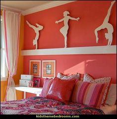 Gymnastics bedroom, gymnastics crafts, girls dance bedroom, dance rooms, be Room Decor For Teen Girls, Big Girl Rooms, Girls Bedroom, Childrens Bedroom, Trendy Bedroom, Bedroom Photos, Bedroom Themes, Bedroom Decor, Bedroom Ideas