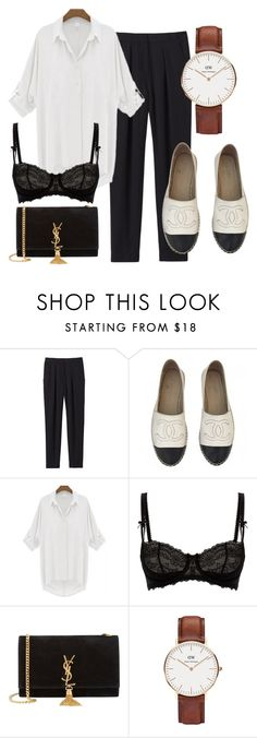 """#7"" by liz-shestopal on Polyvore featuring Rebecca Taylor, Chanel, Myla, Yves Saint Laurent and Daniel Wellington"