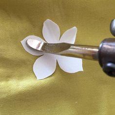 Working on flowers with the best Italian silk taffeta