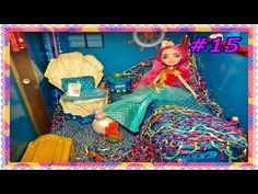 MEESHELL MERMAID Bed & Dorm Room Doll House Video TOUR & How To Make TUTORIAL #15 [EVER AFTER HIGH] - YouTube