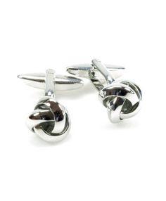 Manschettenknopf silberner Knoten  #style #men #fashion #trend #cufflinks #accessories