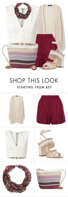 """""""Untitled #1011"""" by kaishabackwards ❤ liked on Polyvore featuring Violeta by Mango, Topshop, Alice + Olivia, Nine West, Alexis Bittar, Magid and Vintage"""