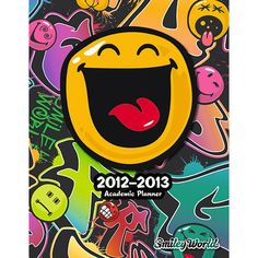 Smiley World Academic Notebook Planner: This academic notepad planner keeps you organized in style throughout the school year. Popping easily into a standard size 3-ring binder, this calendar is ideal for keeping track of homework, tests, papers, sports stuff and all the other important dates and responsibilities of a student?s everyday life.  $6.99  http://calendars.com/Satire/Smiley-World-Academic-2013-Notebook-Planner/prod201300005409/?categoryId=cat00052=cat00052#