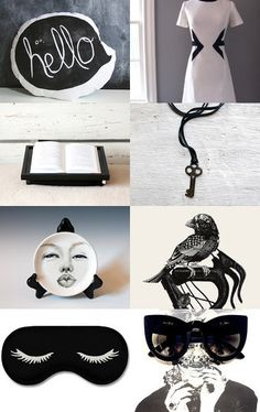Woman nature. Feminie black, not so pure white by Julia Jasiczak on Etsy--Pinned with TreasuryPin.com