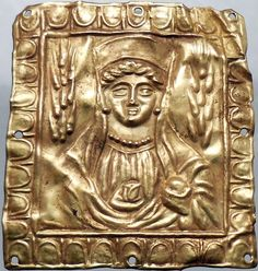Authentic Ancient GREEK ( SCYTHIAN) 400BC Gold Application with Goddess DEMETRA