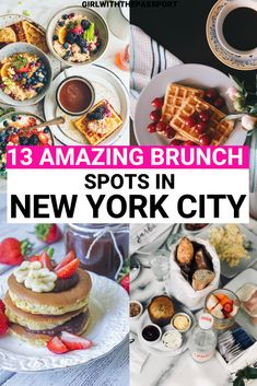 When doing some NYC travel, one of the best NYC things to do is to go out to Brunch and enjoy the best food that New York City has to offer. So here are 13 amazing NYC brunch spots to add to your NYC bucket list. #NYCBrunch #NYCFoodie #NYCTravel #NYCGuide #VisitNYC