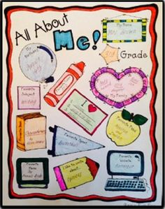 "FREE ""All About Me"" Back to School Poster.... (or use poster for the new student in your classroom)... This poster is perfect for Morning Work and bulletin board displays for the first week of school, not to mention a fabulous way to get to know your new students!"