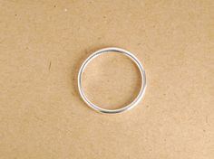 1 piece: sterling silver ring 2mm band stackable ring by JWbeads