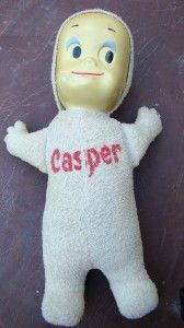 "vintage Casper the friendly ghost doll .I had one that talked...""I'm Casper...the friendly ghost"""