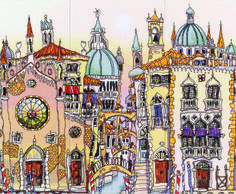 Venice Palazzo triptych from Michael Powell