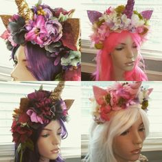 4 new #unicorn headpieces they are in my store Pamzylove.com #cosplay #dubstep #dragqueen #DisneyWorld #disney