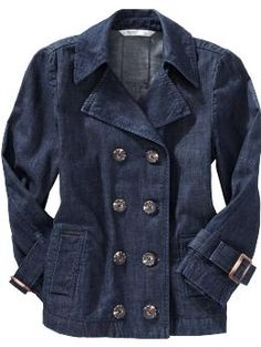 Not a big fan of denim jackets, but this is pretty cool in trench style.