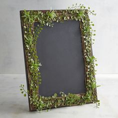 Chalk Menu Board With Greenery