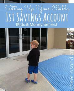 Setting Up Your Childs First Savings Account; #kidsandmoney #savingmoney #money