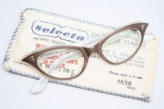 mink cat eye glasses  vintage cateye by VintageOpticalShop on Etsy, $115.00