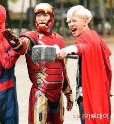151023 on the way to Music Bank - (Junior, Jackson) Yugyeom, Youngjae, Jinyoung, Got7 Junior, Korean Group, Captain America, Ronald Mcdonald, Jackson, Superhero